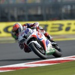 World Supersport Magny Cours ; van der Mark il piu' veloce lo segue ad un soffio un Roberto Tamburini