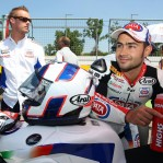 World SBK; Leon Haslam con il Team Red Devils Aprilia nel 2015
